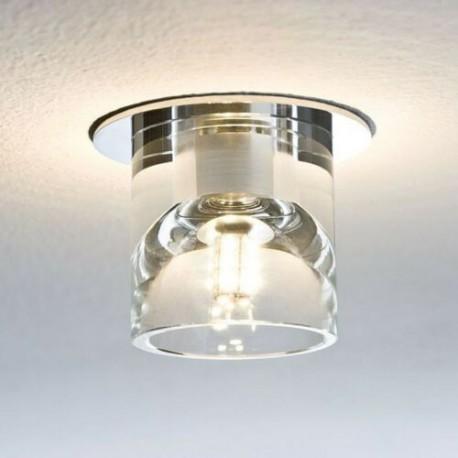 spot encastré acier argent, verre, plafond G4, Argent 92021 Paulmann