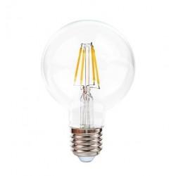 Ampoule Claire E27 6W led filament KLARA 600 lumens diam 80x120mm CALI