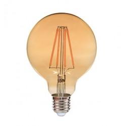 Ampoule Ambrée E27 6W led filament EDDY 540 lumens diam 80x120mm CALI