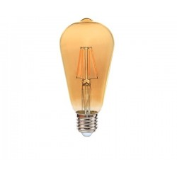 Ampoule ST64 Ambrée E27 6W led filament EDDY 540 lumens diam 64x143mm CALI