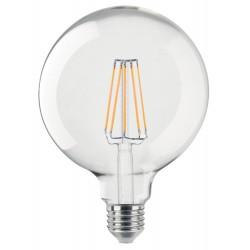 Ampoule Claire E27 6W led filament KLARA 600 lumens diam 125x175mm CALI