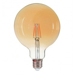 Ampoule Ambrée E27 6W led filament EDDY 540 lumens diam 125x175mm CALI