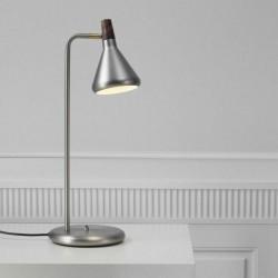Lampe de bureau Float haut 57cm métal et bois noyer Nordlux 83015032