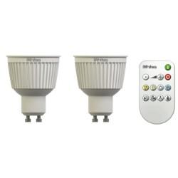 ampoule GU10 led blanc Iwhites 345Lm Pack de 2 av telecommande LT0192872
