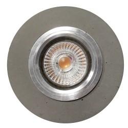 spot encastré rond gu10 led 5W inclu Béton gris 320 lumens 2700k REVE DE BETON CALI CEP2511136