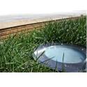 Gros encastré de sol rond pour terre ou béton