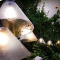Guirlande 12 ampoules cônes plastiques transparents