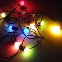 Guirlande 8 ampoules LED RGB