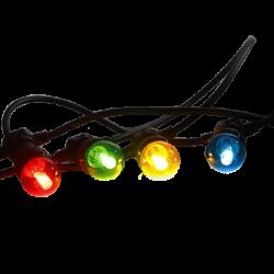 Guirlande 8 ampoules multicolores