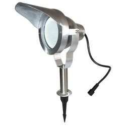 Projecteur LED puissant sur piquet 10W 800lm ALU brossé 65370 Easy Connect