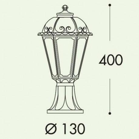Borne lumineuse lanterne SABA 32cm