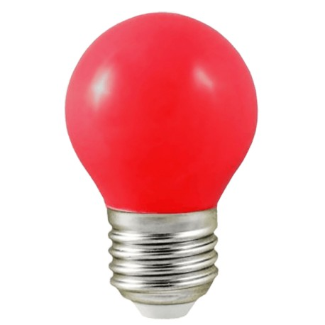 Ampoule LED - E27 - G45 - 1W - 240° - ROUGE - 7618B -Vision EL