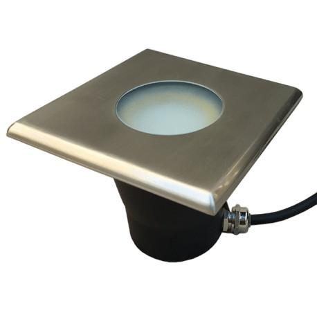 Spot LED encastrable carré terrasse plancher bois 11x11cm 4W ~280lm faisceau large Easy Connect 65486