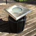 Spot LED encastré carré pour béton ou terre 12x12cm 4W ~280lm faisceau large 65586 Easy Connect