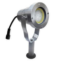 Projecteur LED 4W en aluminium brossé socle & piquet 280lm 65170 Easy Connect