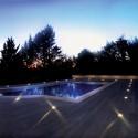 Encastré de sol dans plancher sur berges de piscine