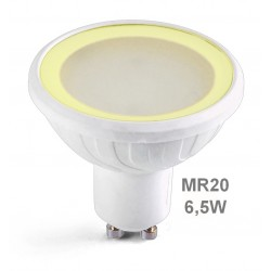 Ampoule LED blanc chaud GU10 MR20 6.5W 520lm dimmable