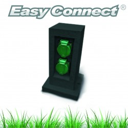 Borne électrique Easy Connect avec 2 sorties EU IP44 16A CLII HAUT 26.5cmx10.5cmx10.5cm 66475
