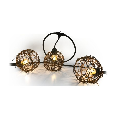 Avec Connect Lumineuse Guirlande En Osier 63820 8 Easy Boules Ambiance 7gy6bf