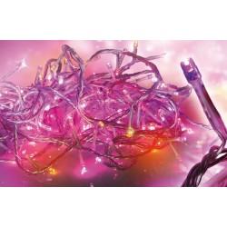 Guirlande de noël LED animée 5m 160 Leds rouge-orange-violet Trendy Dream Light ref 72568