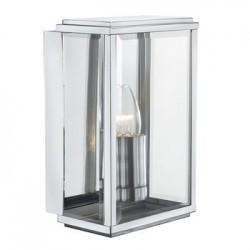 Rectangular Box Modern Silver Wall Light IP44
