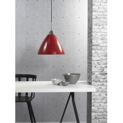 suspension Read 35 diam 35cm métal rouge e27 maxi 60w marque Nordlux ref 73203002
