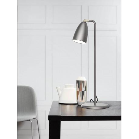 Lampe de Table NEXUS Acier Brossé Haut 63cm GU10 led 200 lumens incl Nordlux