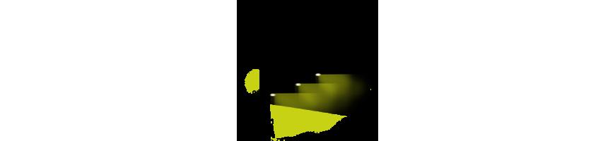 Pelouse courte - éclairage extérieur rasant avec spot encastré escamotable