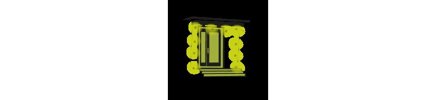 porte d 39 entr e eclairage festif avec guirlande ou d coration ext rieure. Black Bedroom Furniture Sets. Home Design Ideas
