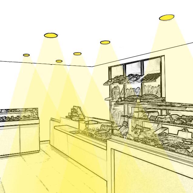 Aménagez un éclairage d'ambiance de boulangerie