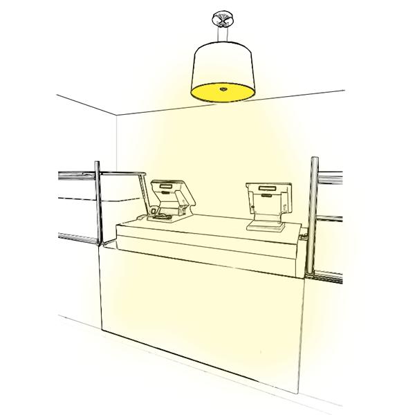 Aménagez votre caisse avec de la lumière
