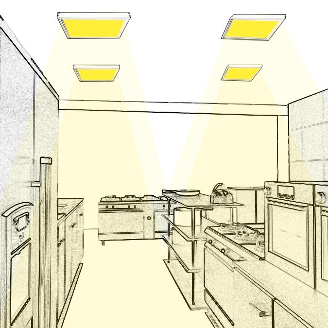 Concevez l'Eclairage des Salles de préparation et cuisson