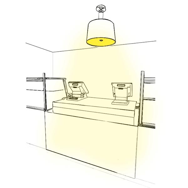 Un éclairage fonctionnel pour votre caisse