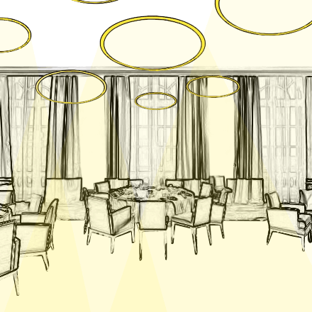 L'Eclairage de la Salle de Restaurant