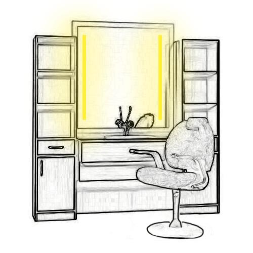 Aménagez l'éclairage de votre espace coupe/couleur