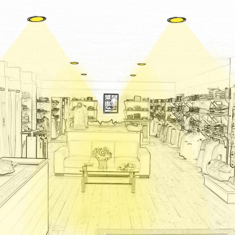 Réalisez un bon éclairage d'ambiance de magasin de vêtements