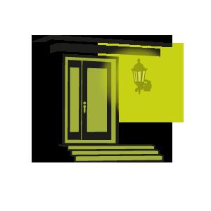 Porte d 39 entr e clairage ext rieur d 39 ambiance avec for Eclairage entree exterieur