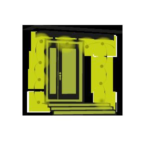 Porte d 39 entr e guirlande lumineuse ext rieur ou d co for Eclairage exterieur porte entree