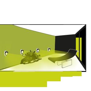 Massifs sur terrasse clairage ext rieur lat ral avec for Eclairage exterieur pour muret