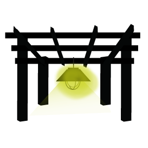 Conseil eclairage pergola avec lanterne ext rieur for Lampe exterieur pour pergola